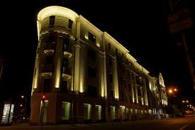 this object is presented by plaza company building facade lighting