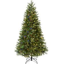 Dual Led Light Christmas Tree Pre Lit Mixed Pine Natural Bark Multi Function Christmas Tree 500 Multi Dual Led Lights 8 Feet