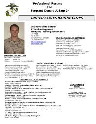 usmc professional resume. military resume .