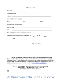 Vehicle Sale As Is Form Free Mobile County Alabama Motor Vehicle Bill Of Sale Form