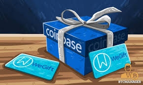 cryptocurrency exchange coinbase partners with digital gift card platform wegift