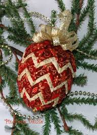 Best 25+ Quilted fabric ornaments ideas on Pinterest | DIY quilted ... & Quilted Fabric Christmas Pinecone - Burgundy and Gold Pattern and Kit