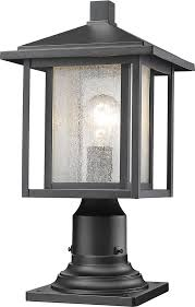 z lite 554phm 533pm bk aspen black exterior lamp post light fixture in prepare 6