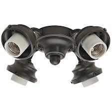 ceiling fan light kit hunter  light new bronze fluorescent ceiling fan light kit
