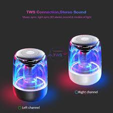 Kristal Mengkilap Suara C7 Speaker Nirkabel Fashion Bass Warna Suara Suara  Ringan Bentuk Silinder Koneksi Nirkabel|Portabel Speaker