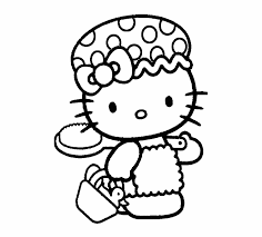 Hello Kitty Coloring Pages Transparent Background Hello