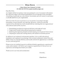 Awesome Collection Of Sample Cover Letter For Job Accountant In Best