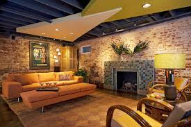 easy eye basement lighting. nicely finished basement with painted exposed ceiling ideas pinterest basements ceilings and easy eye lighting