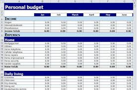 Personal Expenses Worksheet Personal Budget Spreadsheet Template Business