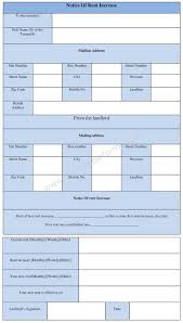Notice Of Rent Increase Form Notice Of Rent Increase Form Template In Word Doc Format