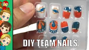 DYI NFL Team Sports Nails Miami Dolphins Nail Art - YouTube
