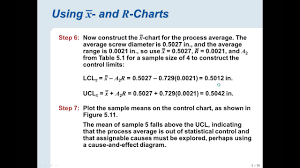 Chapter 3 Control Chart Exercises 1 5
