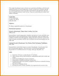 Executive Housekeeper Resume Resume Examples For Cleaning Jobs Best Of Housekeeping Resume 6