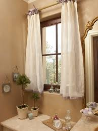 Beautiful and Creative Idea Of Curtain Tie Backs : Traditional Bathroom  With White Curtain Ribbon Ties ...