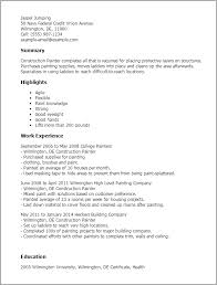 ... Beautifully Idea Painter Resume 3 Professional Construction Painter  Templates To Showcase Your ...