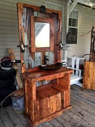 modern pallet furniture. Mid Century-Modern Pallet And Metal Bathroom Vanity - 50+ DIY Ideas That Can Improve Your Home | Furniture Part 2 Modern U