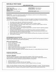 Teller Job Description For Resume Fantastic Teller Job Description