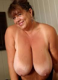 Old saggy big tits