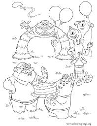 Small Picture Monsters University Monsters celebrating coloring page