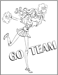 Small Picture Cheerleading Coloring Pages