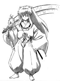 Anime Coloring Pages Of Inuyasha