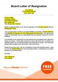 Letter Resignation Resignation Letter Samples Free Downloadable Letters
