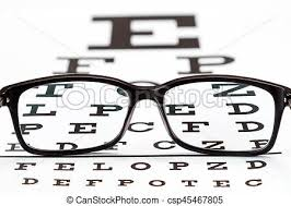 Photography Test Chart Eye Glasses On Eyesight Test Chart