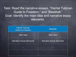 1 Literary Analysis Skill Narrative Essay 2 Reading Skill Main