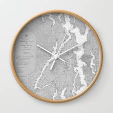 Puget Sound Chart Puget Sound Washington State Nautical Chart Map Print 1956 Map Art Prints Wall Clock By Chartedwaters