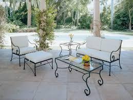 Wrought Iron Patio Furniture Cushions Decor