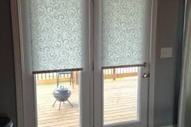 decor stylish blinds for french doors thecritui enclosed blinds