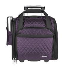 Quilted Luggage: Amazon.com & Travelon Wheeled Underseat Carry-On with Back-Up Bag, Quilted Microfiber,  Eggplant, One Size Adamdwight.com