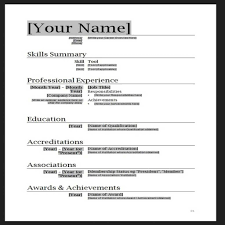 Cv Format Doc Professional Cv Format Doc Modern Resume Template Word