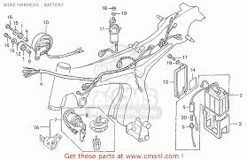 honda s110 benly general export type 5 wire harness battery wire harness battery schematic