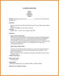 Resume For First Job Nguonhangthoitrang Examples Ofeenageemplate