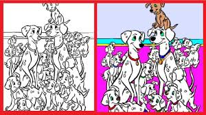 101 dalmatians coloring pages book disney colouring learn colors videos for kids art games free 8