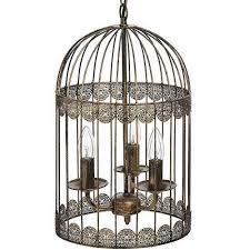 antique gold bird cage design vintage style chandelier 3 arm ceiling light