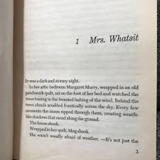 First Pages A Wrinkle In Time Dr Bookworm