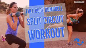 40 minute full body dumbbell split