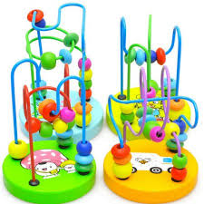 Wooden Bead Game Delectable Hot SaleColorful Wooden Mini Around Beads Wooden Educational Game