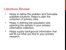 Literature Review Apa Style Sample Guidelines For Writing