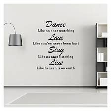 Wall Decal Quotes Simple Wall Decals Quotes Dance Love Sing Live Vinyl Wall Sticker
