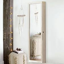 wall hanging jewelry box beautiful wooden mirrored full length wall hanging jewelry over the door wall