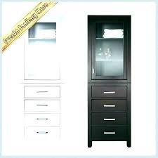 freestanding linen cabinet interior furniture free standing closet ideas bathroom tower wood laundry narrow brown woo