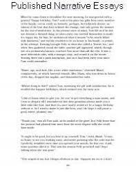 Published Narrative Essays Written