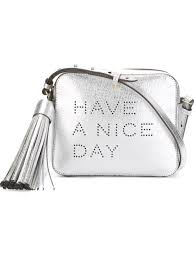 anya hindmarch have a nice day crossbody bag silver women bags satchels cross body anya hindmarch makeup bag black top brand whole