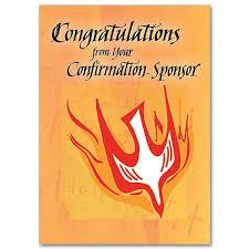 confirmation card sponsor