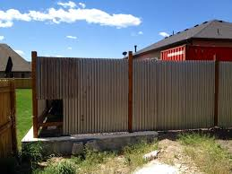 corrugated metal privacy fence diy