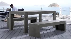 concrete outdoor dining table. Beliani Dinning Beton Set - Concrete Table Ans 2 Benches Outdoor Furniture TARANTO Eng YouTube Dining