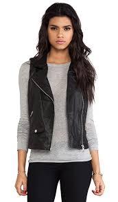 leather moto vest june